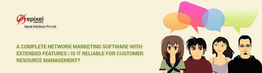 a complete CRM network marketing software with extended features