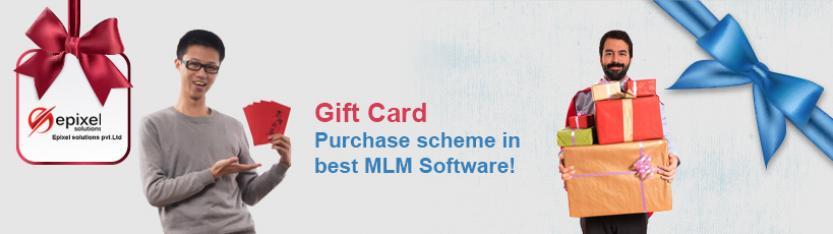 Gift Card Purchase scheme in best MLM Software