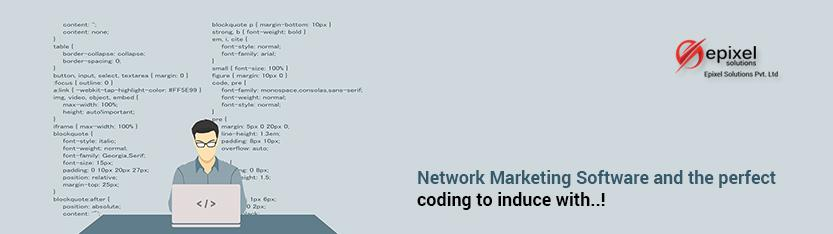 Perfect Coding for Network Marketing Software