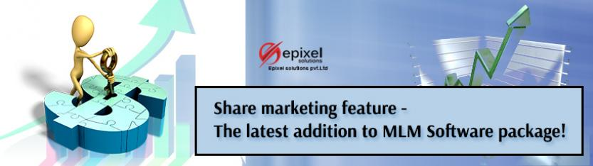 Share marketing feature-The latest addition to MLM Software package